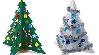 3d елка из бумаги Как сделать своими руками origami Поделки из бумаги Новогодние Идеи рукоделия