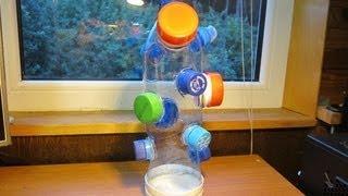 Как сделать развивающую игрушку Монтессори для ребенка своими руками из пластиковых бутылок