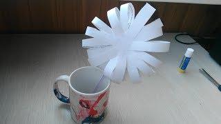 ★ Как сделать красивый цветок из полосок бумаги. Оригами из бумаги своими руками.