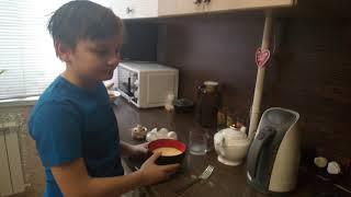 Как приготовить омлет за 7 минут.