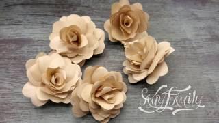 БУМАЖНЫЕ ЦВЕТЫ. Как сделать цветок из бумаги своими руками. Вариант 1