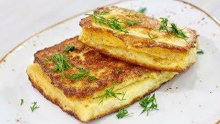 Сэндвич с моцареллой. Сытный завтрак за 5 минут