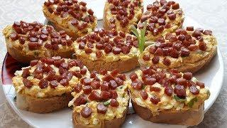 Такие АРОМАТНЫЕ бутерброды так и просятся в рот. Как приготовить быстрый и вкусный перекус