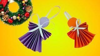 Как сделать бумажного Ангелочка своими руками - DIY - Новогодние украшения